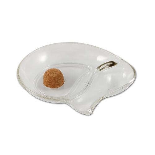 Pfeifenascher Glas oval 1 Ablage